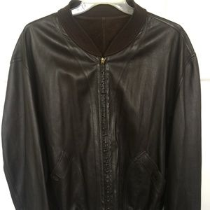 Bally Suede & Leather Reversible Bomber Jacket - L